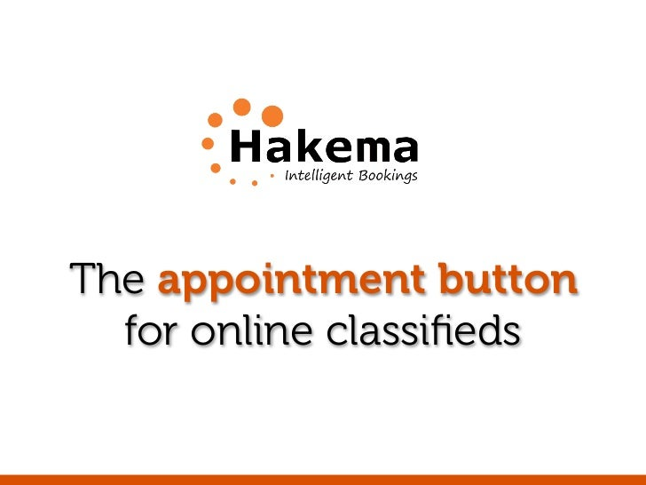 The appointment button  for online classifieds