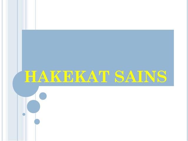HAKEKAT SAINS