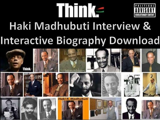 Haki Madhubuti Interview & Interactive Biography Download