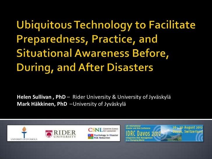 Helen Sullivan , PhD – Rider University & University of JyväskyläMark Häkkinen, PhD –University of Jyväskylä