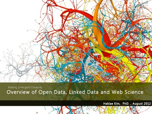 Making Emergent CreativityOverview of Open Data, Linked Data and Web Science                                   Haklae Kim,...
