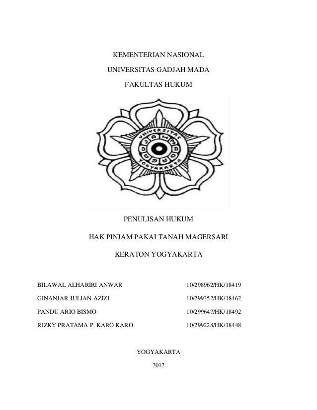 Hak Pinjam Pakai Tanah Magersari Keraton Yogyakarta