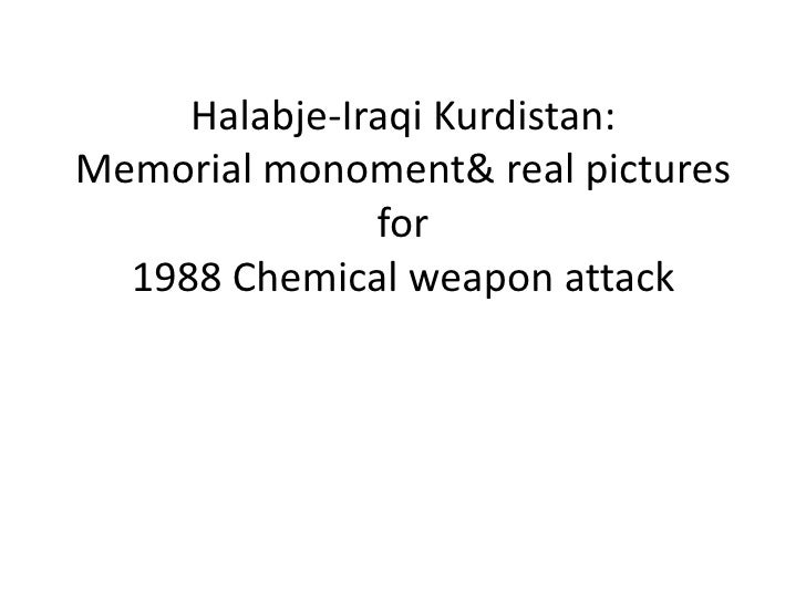 Halabje-Iraqi Kurdistan:Memorial monoment& real pictures for 1988 Chemical weapon attack<br />