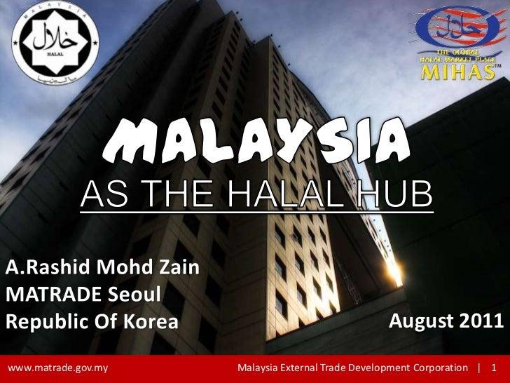 Halal presentation MATRADE Seoul 2011