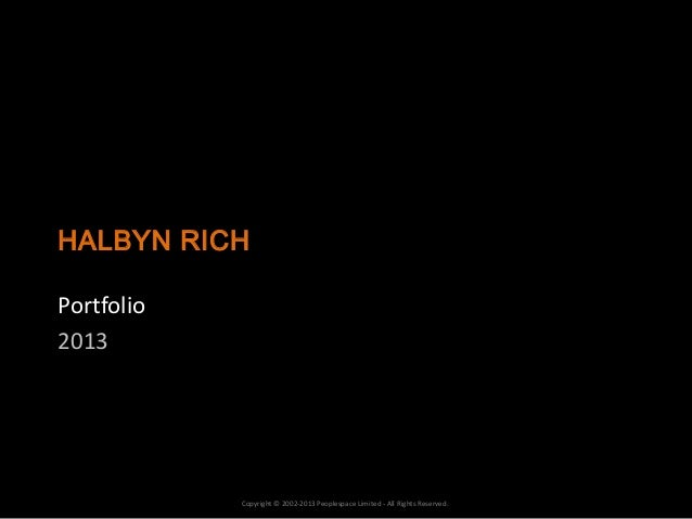 Halbyn Rich portfolio 2013