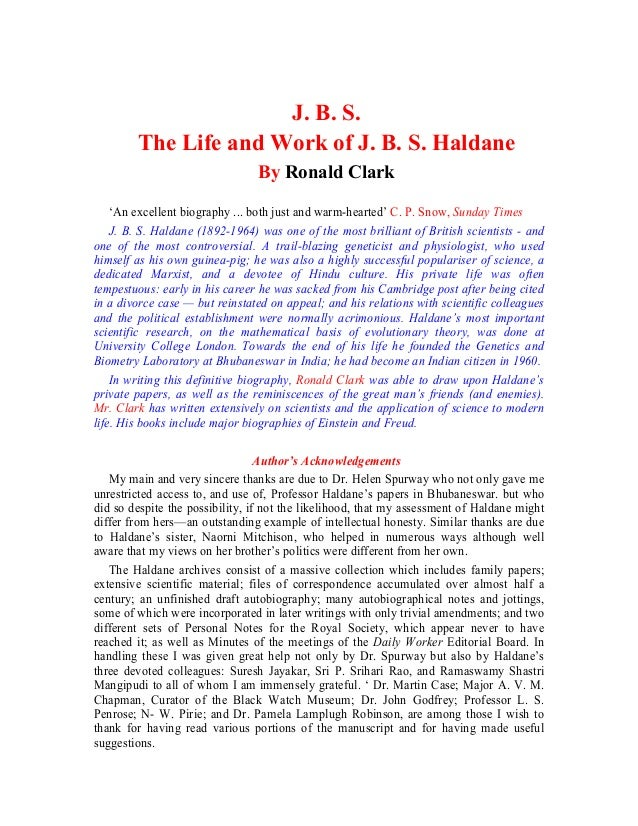 J. B. S.The Life and Work of J. B. S. HaldaneBy Ronald Clark'An excellent biography ... both just and warm-hearted' C. P. ...
