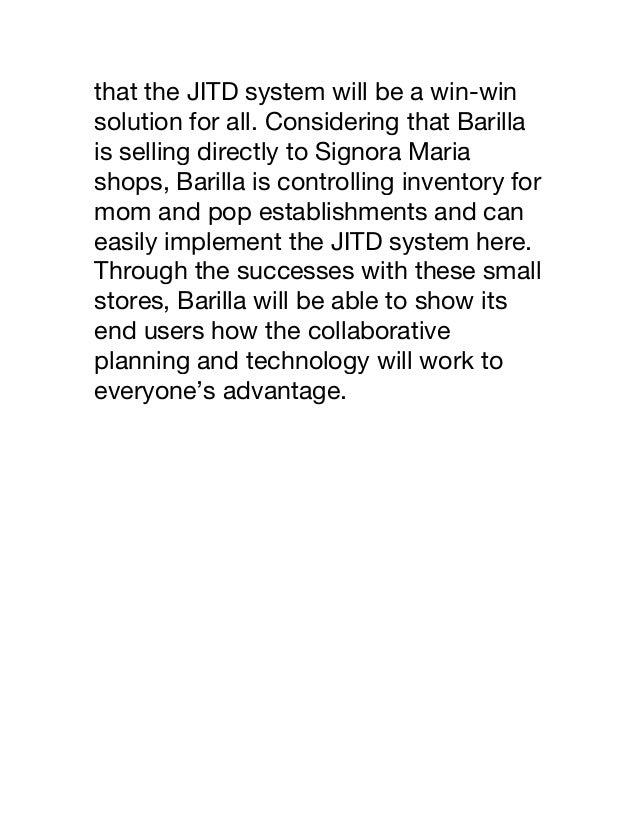 Barilla spa case study analysis essay