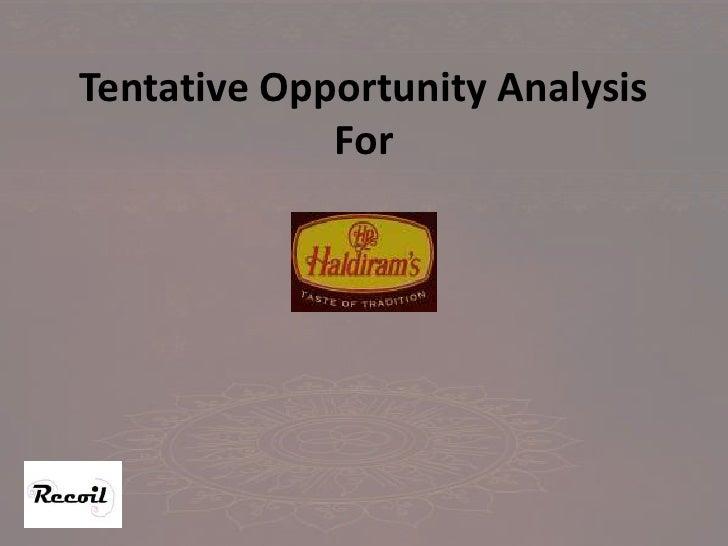 Tentative Opportunity AnalysisFor <br />