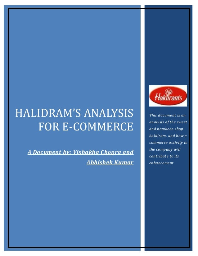 HALIDRAM'S ANALYSIS                    This document is an   FOR E-COMMERCE                                       analysis...
