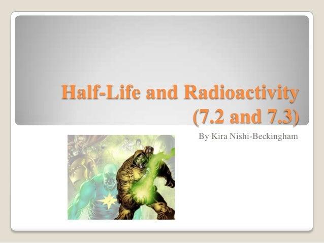 Half life and radioactivity