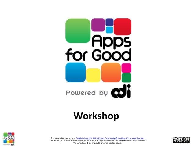 Apps for Good: Half day taster workshop (technical)