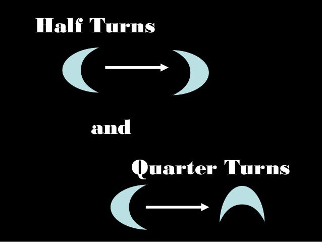Half TurnsandQuarter Turns