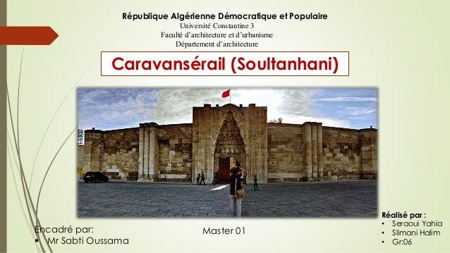 République Algérienne Démocratique et Populaire Université Constantine 3 Faculté d'architecture et d'urbanisme Département...