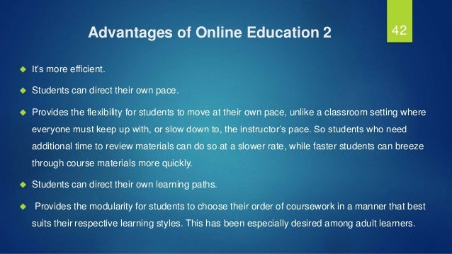 online education essay