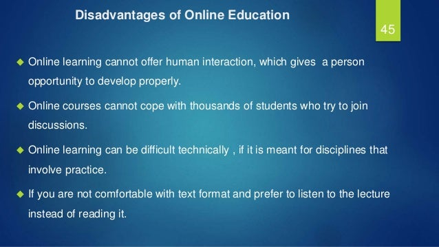 """benefits and challanges of online education At the bottom of the list were salary and benefits  special education teachers need supervision from  online supports such as """"how i survived the paper."""