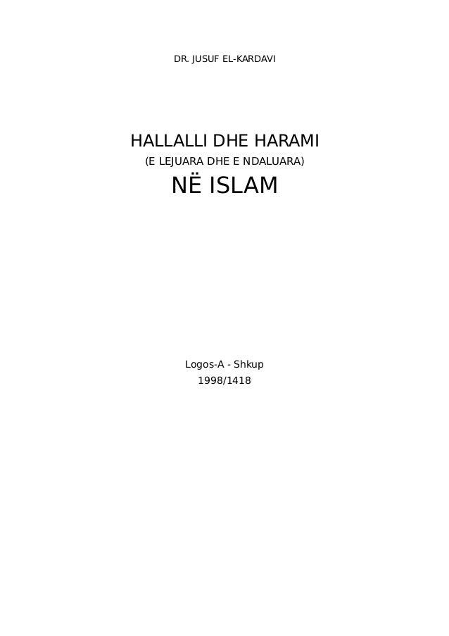 DR. JUSUF EL-KARDAVIHALLALLI DHE HARAMI (E LEJUARA DHE E NDALUARA)     NË ISLAM       Logos-A - Shkup         1998/1418