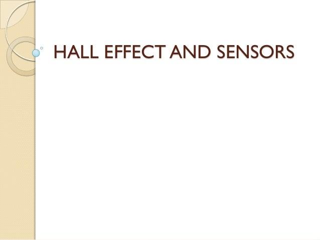 Hall effect and sensors
