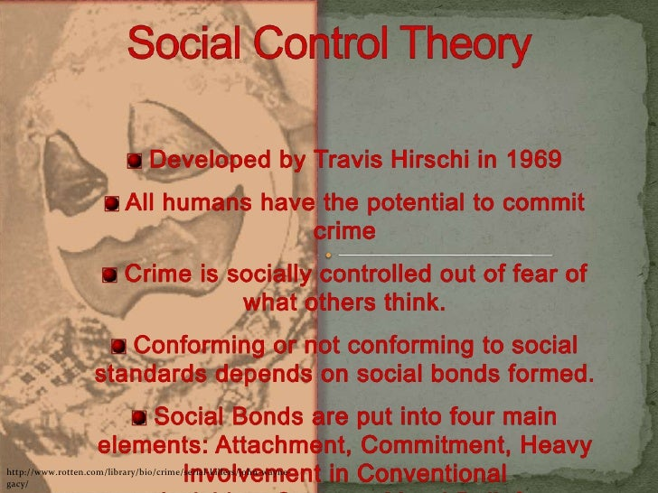 social control theory and serial killers What motivates a serial killer significance of control for serial killers a consistent theory as to why women serial kill as there are so.