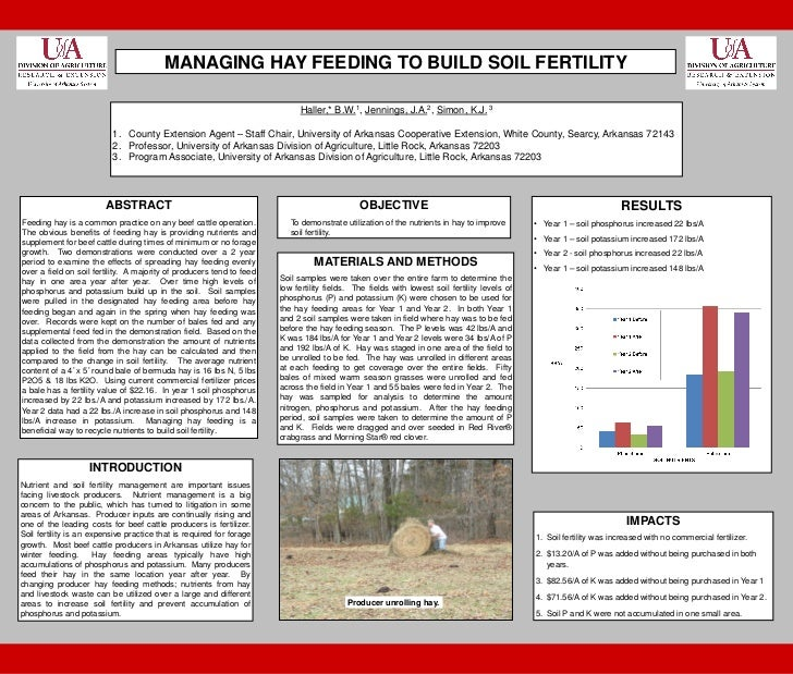 Haller   hay feeding poster