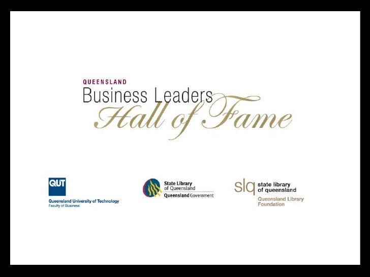 Queensland Business Leaders Hall Of Fame