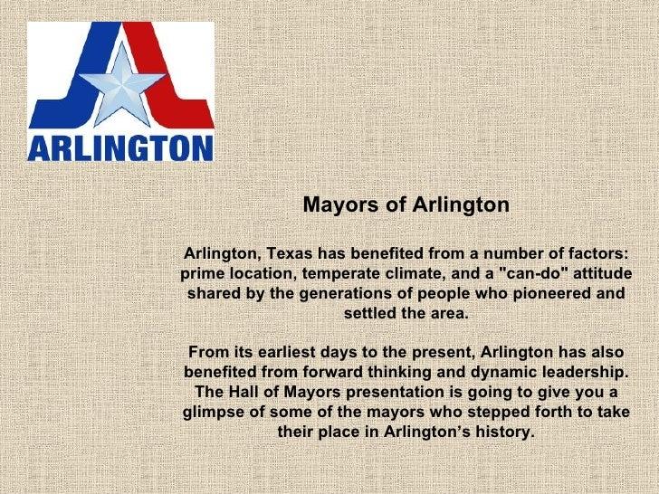 Mayors of Arlington,TX