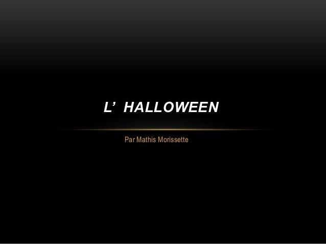 Halloween par Mathis