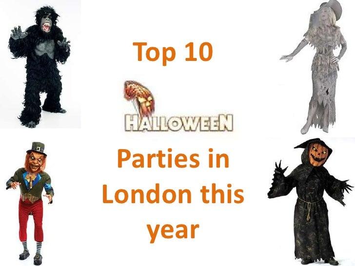 Top 10 Halloween Parties in London