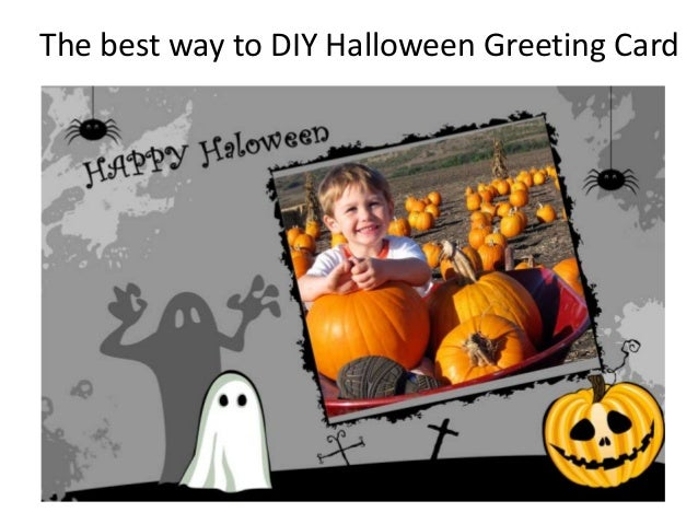 Halloween gift - How to DIY special Halloween greeting card with favorite photos