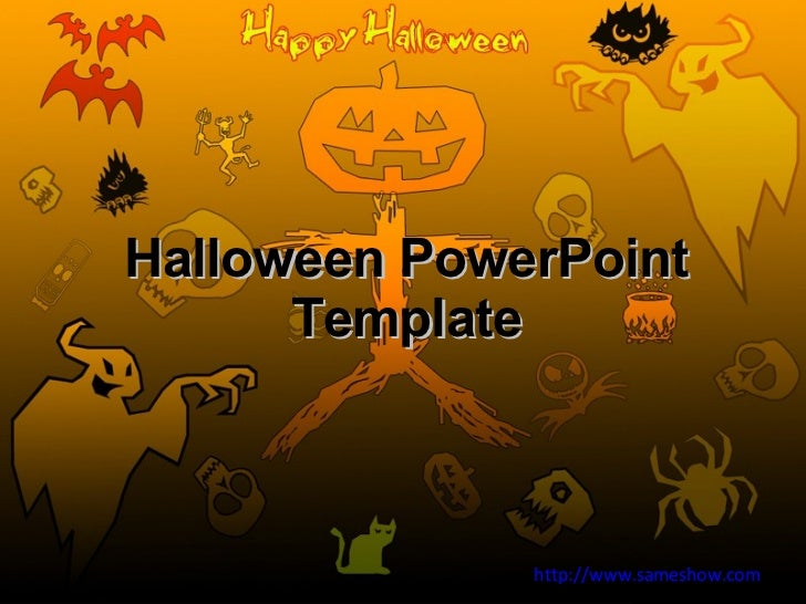 free halloween powerpoint template. Black Bedroom Furniture Sets. Home Design Ideas