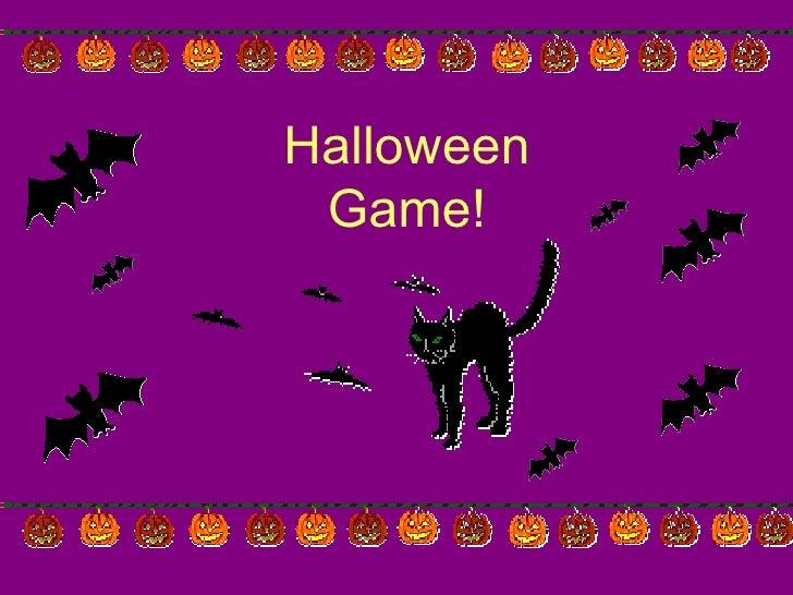 Halloween Game!