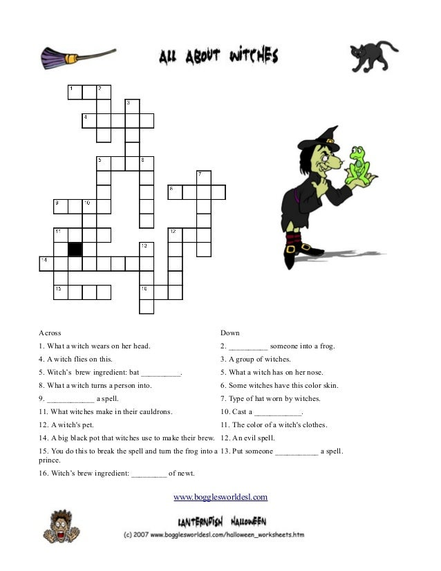 Halloween crossword