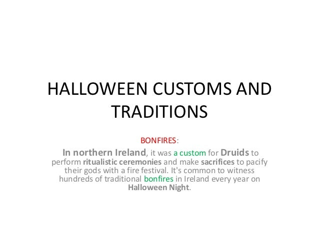 Halloween customs and traditions