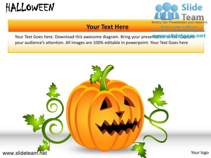 HALLOWEEN                                        Your Text Here    Your Text Goes here. Download this awesome diagram. Bri...
