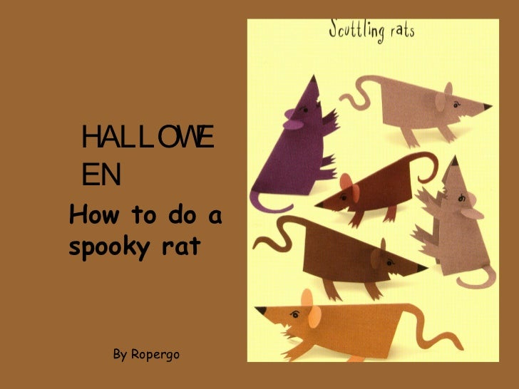 HALLOWEENHow to do aspooky rat   By Ropergo