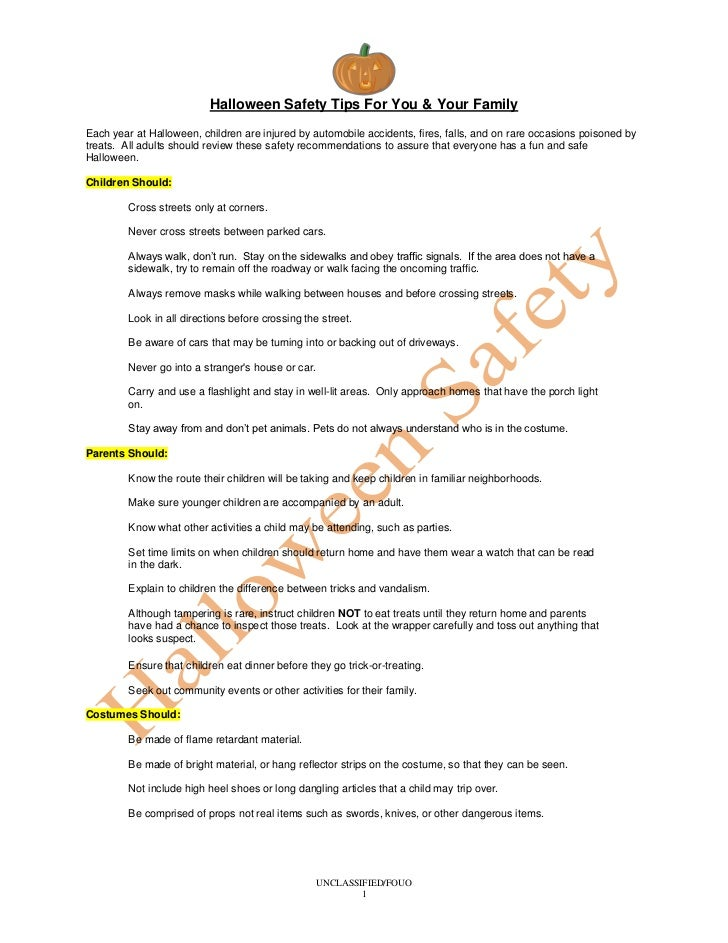 Halloween Safety Tips For You & Your FamilyEach year at Halloween, children are injured by automobile accidents, fires, fa...