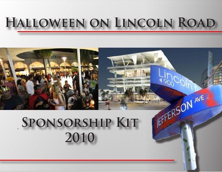 Halloween on Lincoln Road      Sponsorship Kit       2010