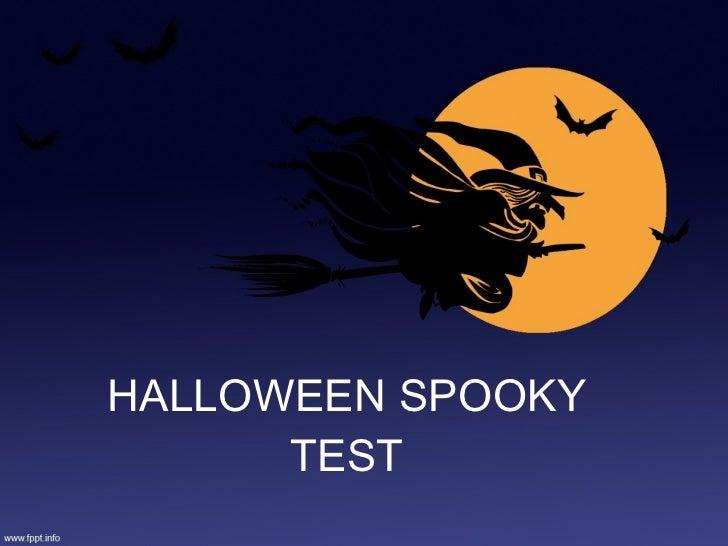 Halloween test vi grade