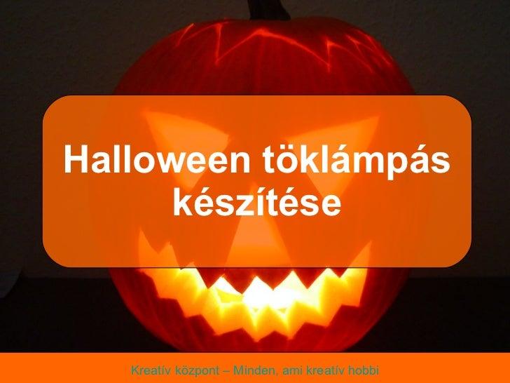 Halloween töklámpás készítése