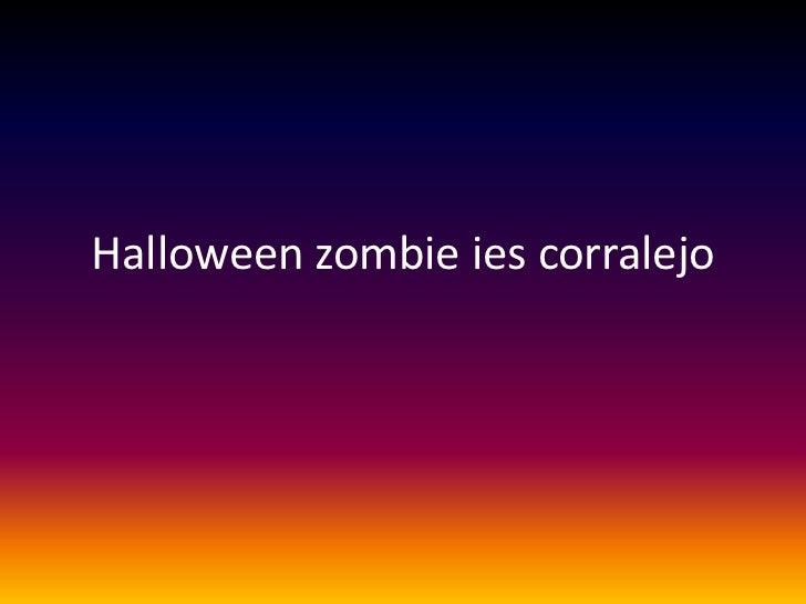 Halloween zombie ies corralejo