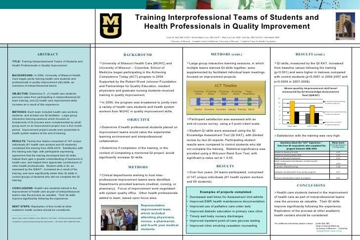 Training Interprofessional Teams of Students and Health Professionals in Quality Improvement <ul><li>ABSTRACT </li></ul><u...