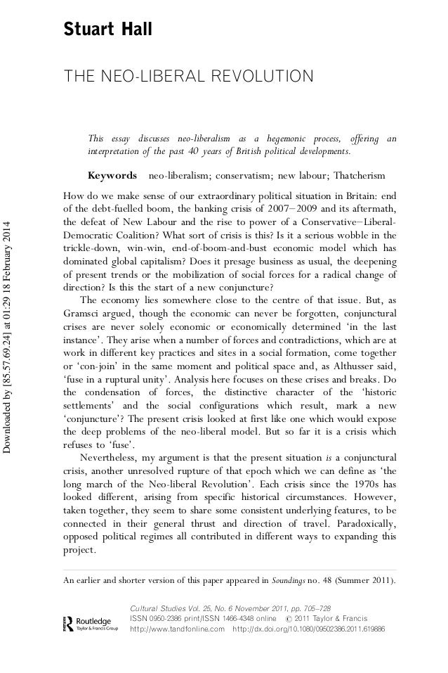 what is neo liberalism essay Neo liberalism on studybaycom - other, essay - smart writer, id - 338601.