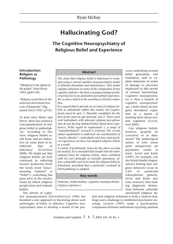 Ryan McKay                                    Hallucinating God?                            The Cognitive Neuropsychiatry ...