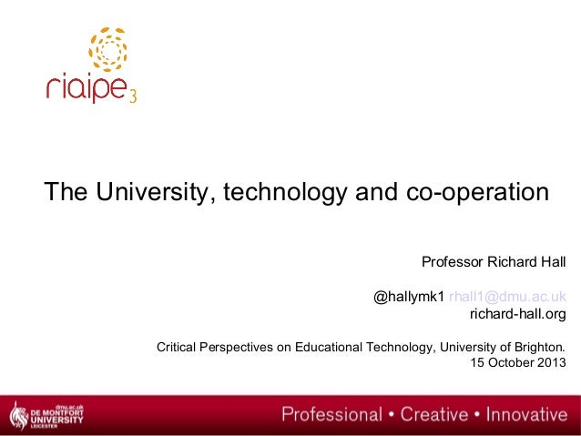 The University, technology and co-operation