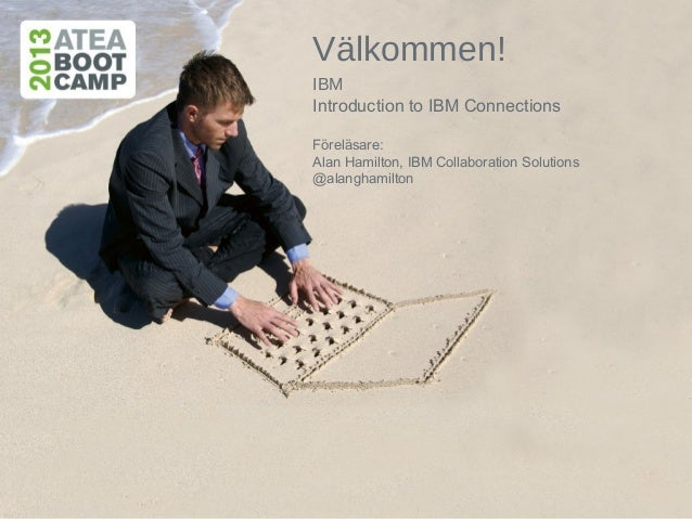 Välkommen!IBMIntroduction to IBM ConnectionsFöreläsare:Alan Hamilton, IBM Collaboration Solutions@alanghamilton