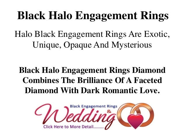 Black Halo Engagement RingsHalo Black Engagement Rings Are Exotic,    Unique, Opaque And Mysterious Black Halo Engagement ...
