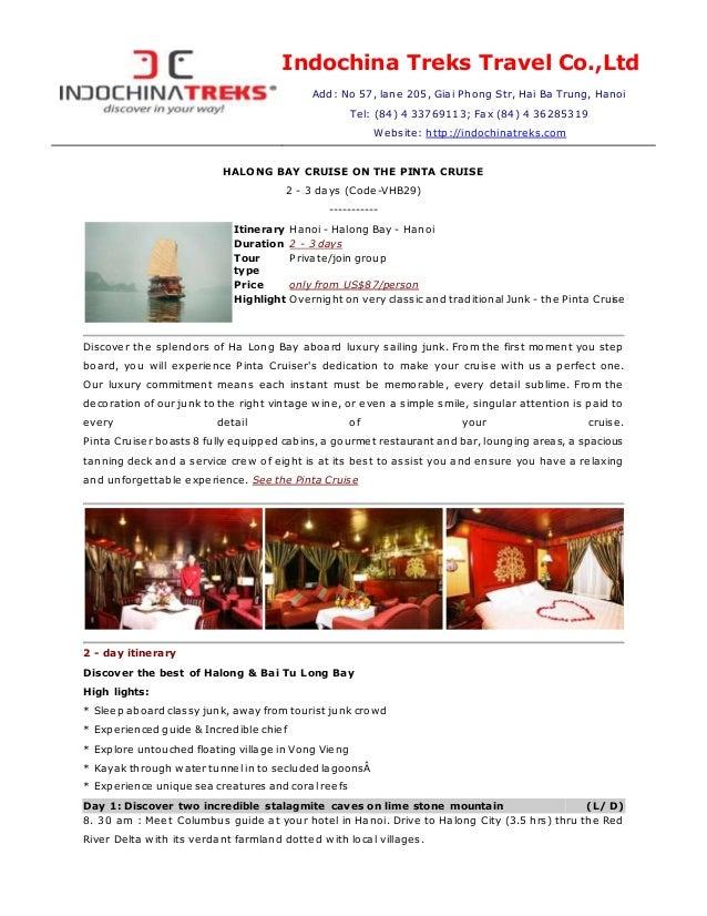 Halong bay on the Pinta Cruise