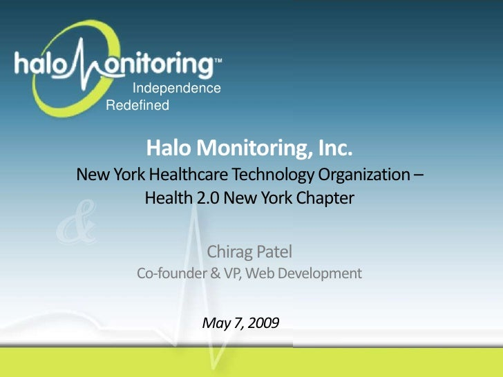 Overview of Halo Monitoring (Advanced Monitoring System for Seniors) for NYC Health 2.0