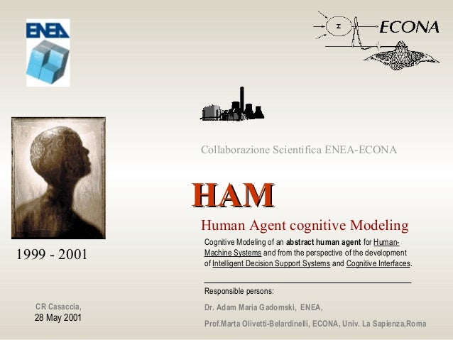 HAMHAM Human Agent cognitive Modeling Cognitive Modeling of an abstract human agent for Human- Machine Systems and from th...