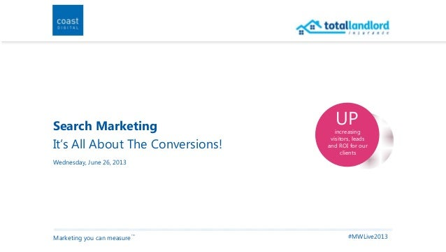 Search Marketing - It's All About The Conversions!