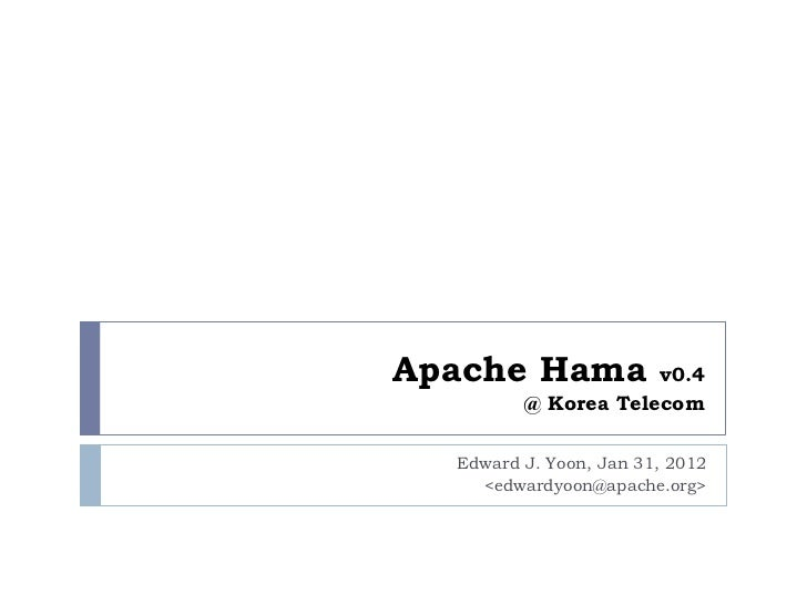Apache Hama 0.4